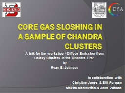 Core Gas Sloshing in a Sample of Chandra Clusters