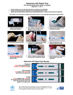 Determine HIV Rapid Test For use with whole blood serum or plasma Store kit    C Check kit before use