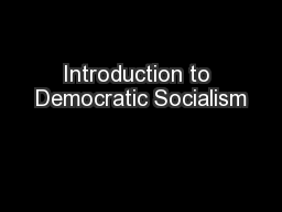 Introduction to Democratic Socialism