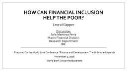 How can financial inclusion