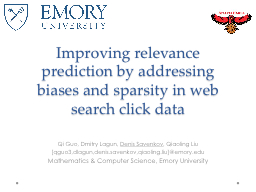 Improving relevance prediction by addressing biases and