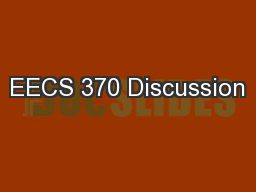 EECS 370 Discussion PowerPoint PPT Presentation