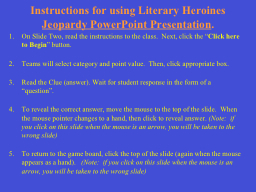 Instructions for using PowerPoint PPT Presentation