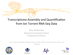 Transcriptome Assembly and Quantification