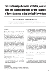 UMMARY Recent developments in medical curricula have l