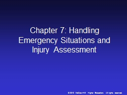 Chapter 7: Handling Emergency Situations and Injury Assessm