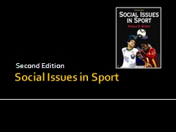 Social Issues in Sport PowerPoint Presentation, PPT - DocSlides