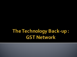 The Technology Back-up :