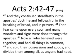 Acts 2:42-