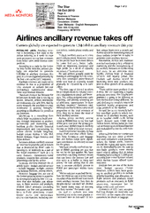 Airlines ancillary revenue takes off Carriers globally