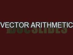 VECTOR ARITHMETIC