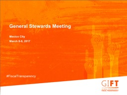 General Stewards Meeting