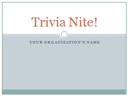 Your Organization's NAME