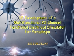 17. Development of a Multifunctional 22-Channel Functional