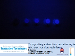 Integrating extraction and stirring in microextraction tech