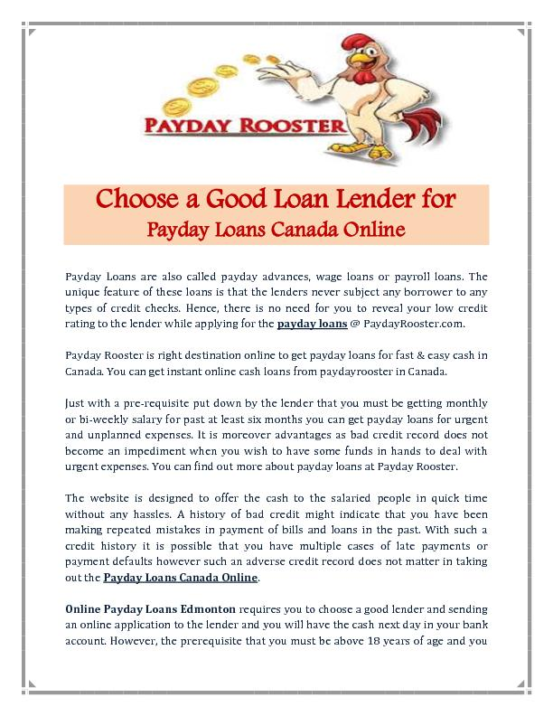 Payday Loans Canada Online