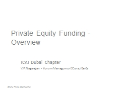Private Equity Funding - Overview