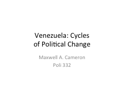 Venezuela: Cycles PowerPoint PPT Presentation