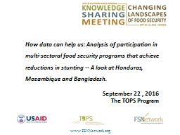 How data can help us: Analysis of participation