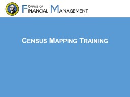 Census Mapping Training