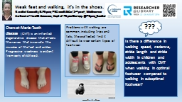 Is there a difference in walking speed, cadence, step lengt PowerPoint PPT Presentation