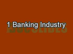 1 Banking Industry