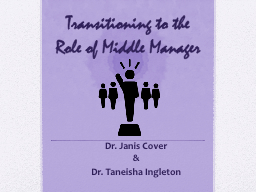 Transitioning to the Role of Middle Manager