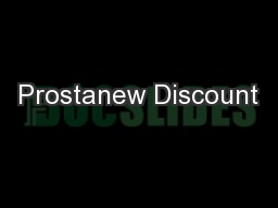 Prostanew Discount