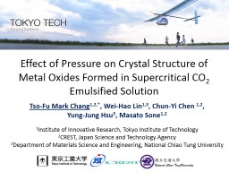 Effect of Pressure on Crystal Structure of Metal Oxides For PowerPoint PPT Presentation