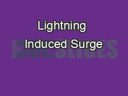 Lightning Induced Surge