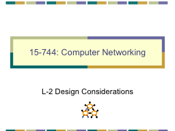 15-744: Computer Networking PowerPoint PPT Presentation