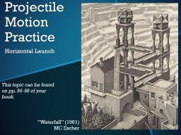 Projectile Motion Practice PowerPoint PPT Presentation