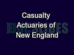 Casualty Actuaries of New England