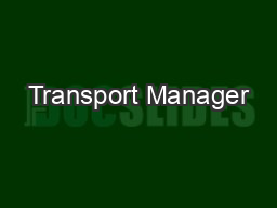 Transport Manager