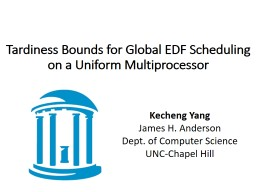 Tardiness Bounds for Global EDF Scheduling on a Uniform Mul