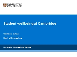Student wellbeing at Cambridge