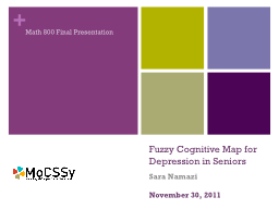 Fuzzy Cognitive Map for Depression in Seniors