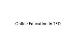 Online Education in TED