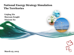 National Energy Strategy Simulation