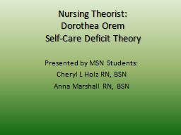 Nursing Theorist: PowerPoint PPT Presentation