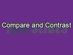 Compare and Contrast PowerPoint PPT Presentation