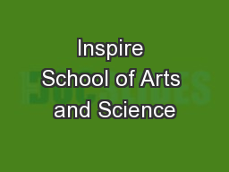 Inspire School of Arts and Science