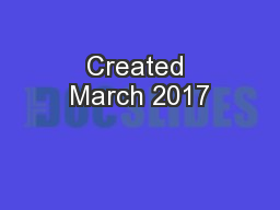 Created March 2017