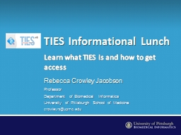 TIES Informational Lunch