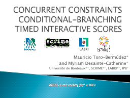 CONCURRENT CONSTRAINTS CONDITIONAL-BRANCHING TIMED INTERACT