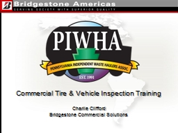 Commercial Tire & Vehicle Inspection Training