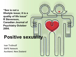 Positive sexuality PowerPoint PPT Presentation