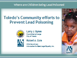 Where are Children being Lead Poisoned