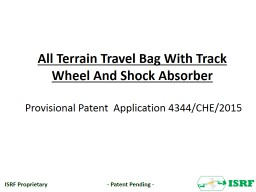 All Terrain Travel Bag With Track Wheel And