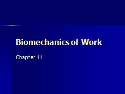 Biomechanics of Work